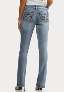 Stone Embellished Jeans