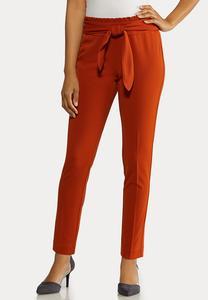 Rust Tie Waist Pants