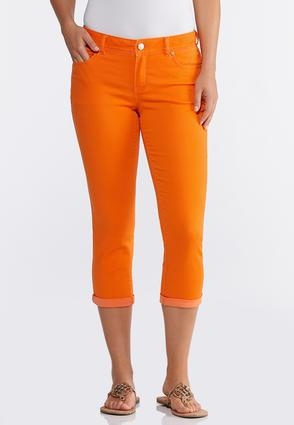 Bright Cropped Jeans