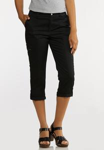 Cropped Utility Cargo Pants