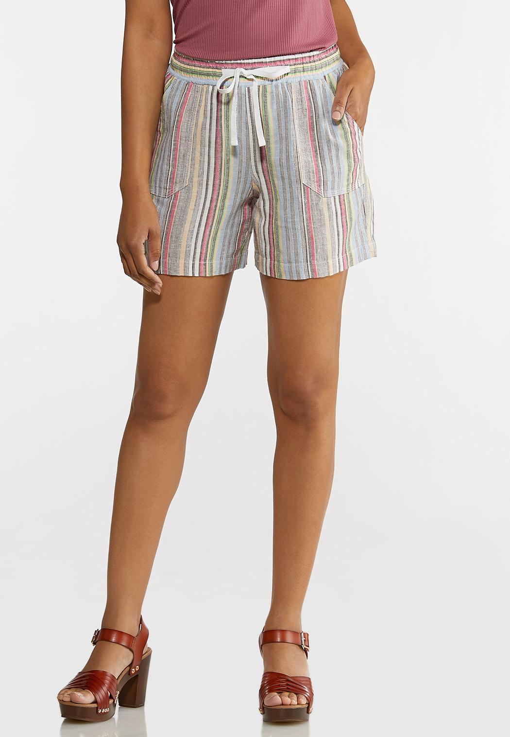 Muted Stripe Beach Shorts