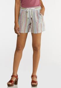 Muted Stripe Beach Shorts