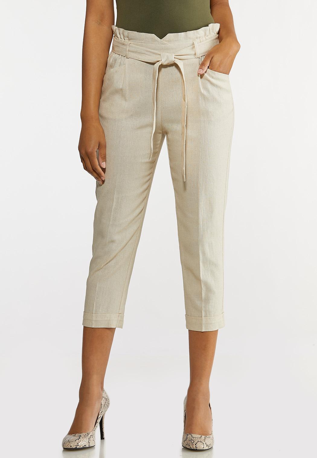 Linen Paperbag Waist Pants