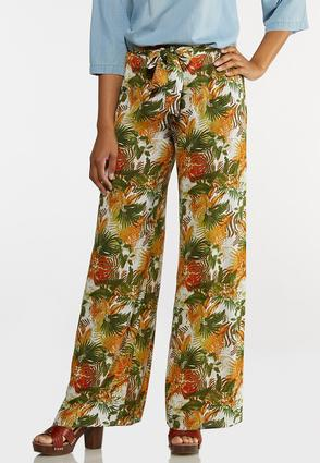 Tropical Floral Gauze Pants