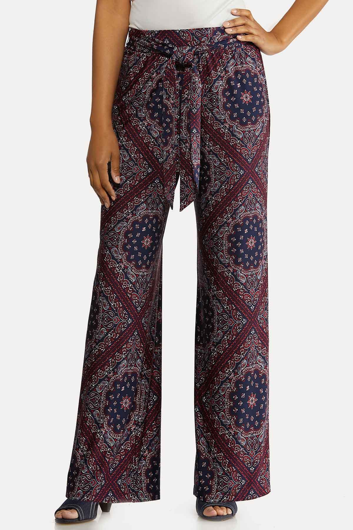 Petite Moroccan Tie Front Pants