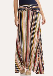 Twist Stripe Maxi Skirt