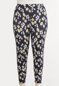 Plus Size Daisy Dream Cropped Leggings
