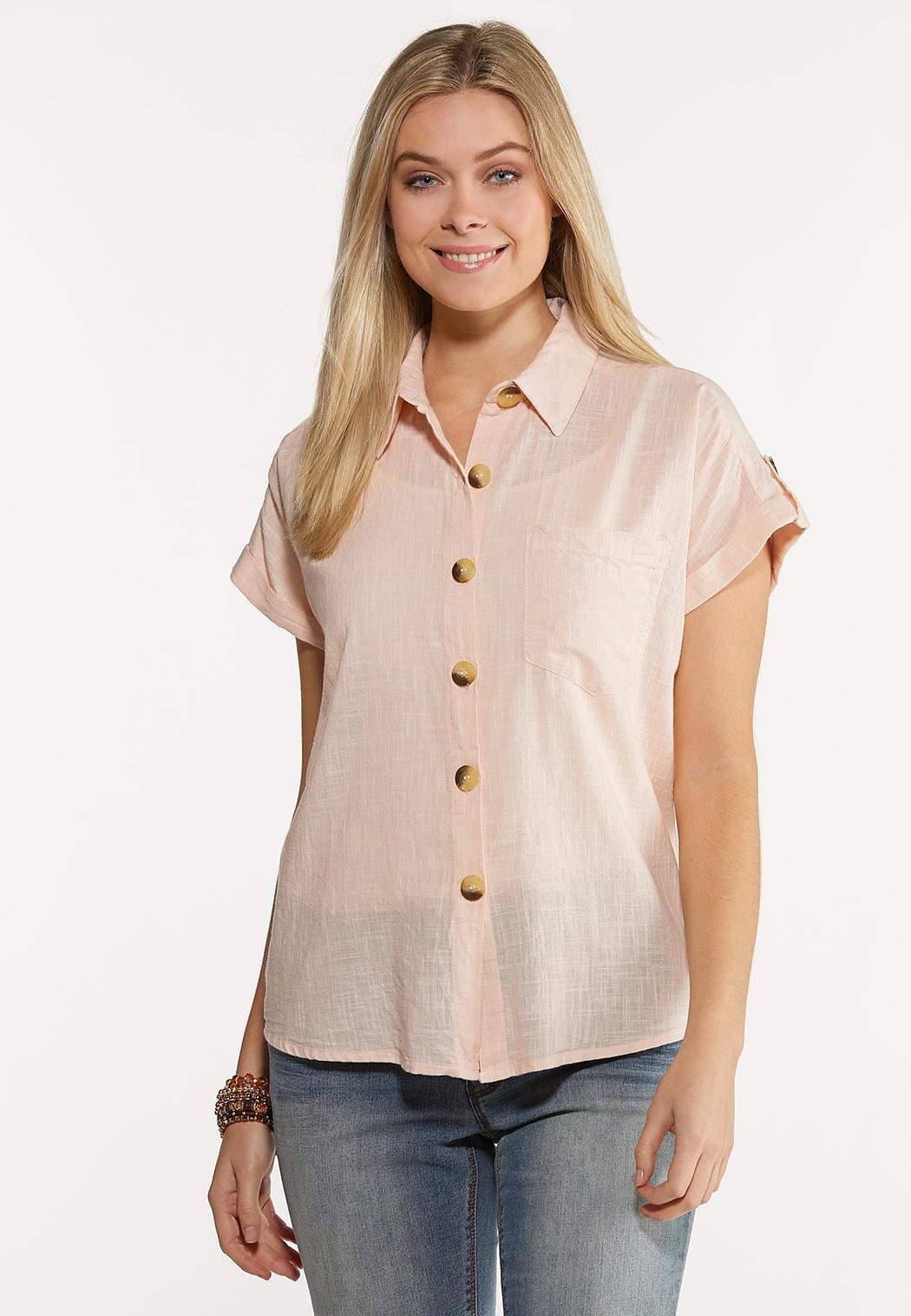 Pink Textured Shirt