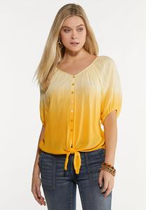 Yellow Tie Dye Top