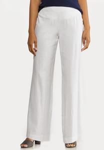 Pull-On Linen Pants