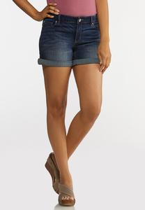 Dark Wash Denim Shorts