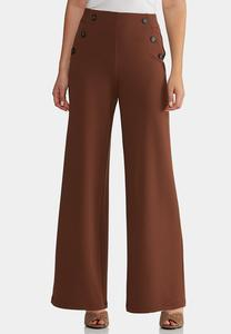Petite High-Rise Trouser Pants