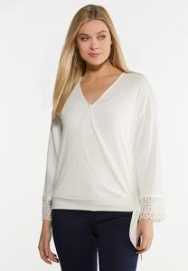 Textured Ivory Top