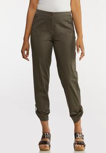 Cropped Utility Pants
