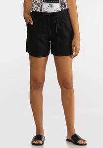 Drawstring Linen Shorts