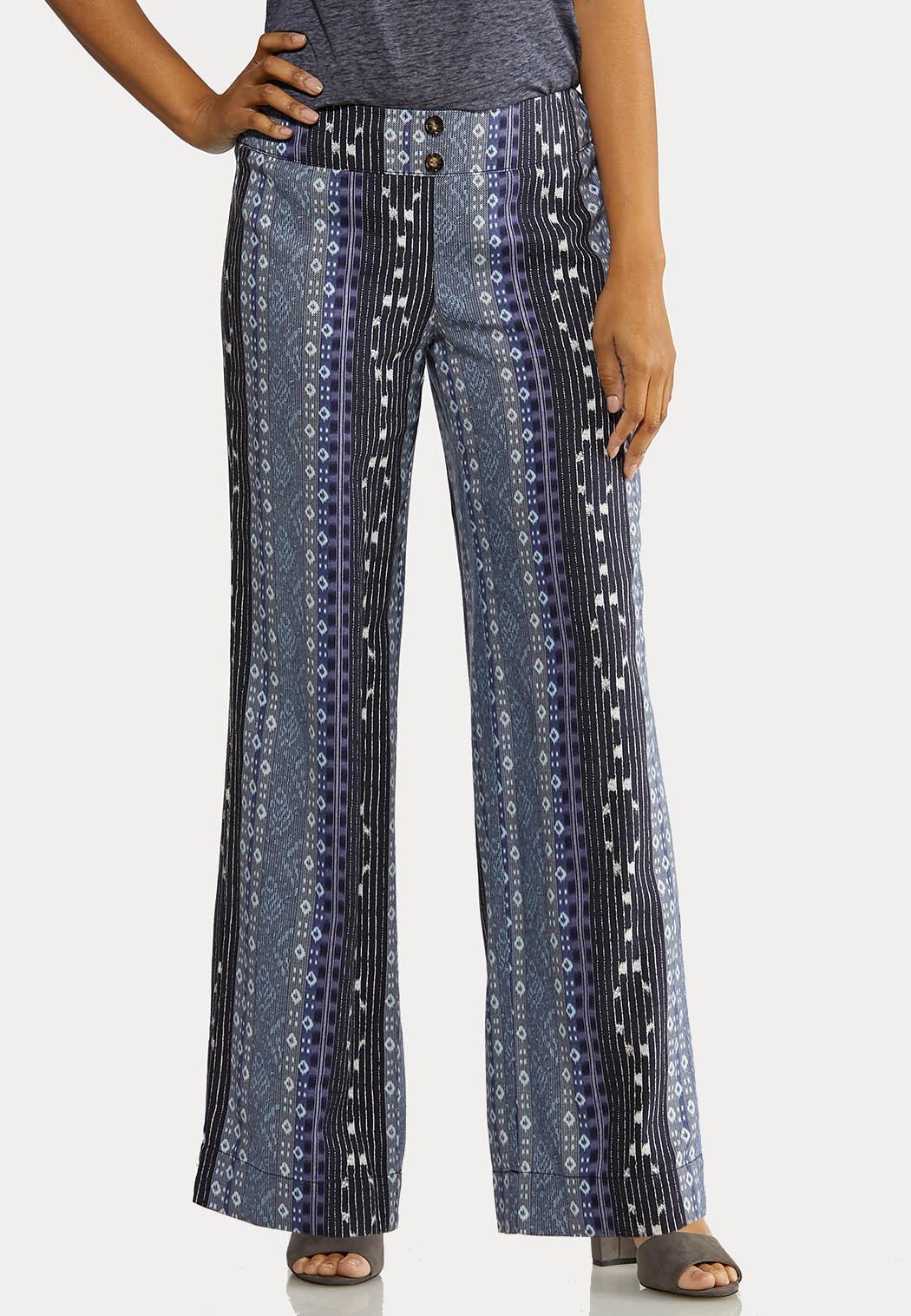 Geo Linen Pants