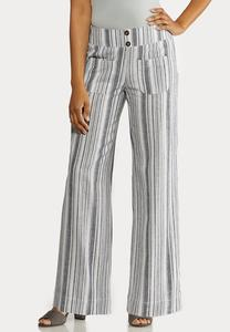 Patch Pocket Linen Pants