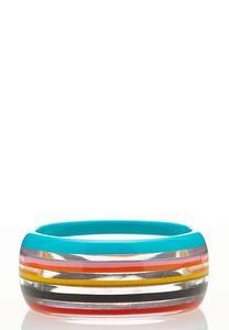 Lucite Stripe Bangle Bracelet