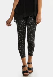 Cropped Floral Leggings