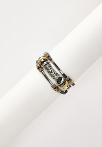 Etched Silver Cord Bracelet