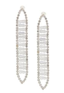 Sparkle Clear Linear Earrings