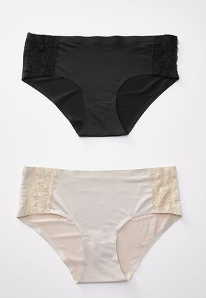Plus Size Black Nude Panty Set