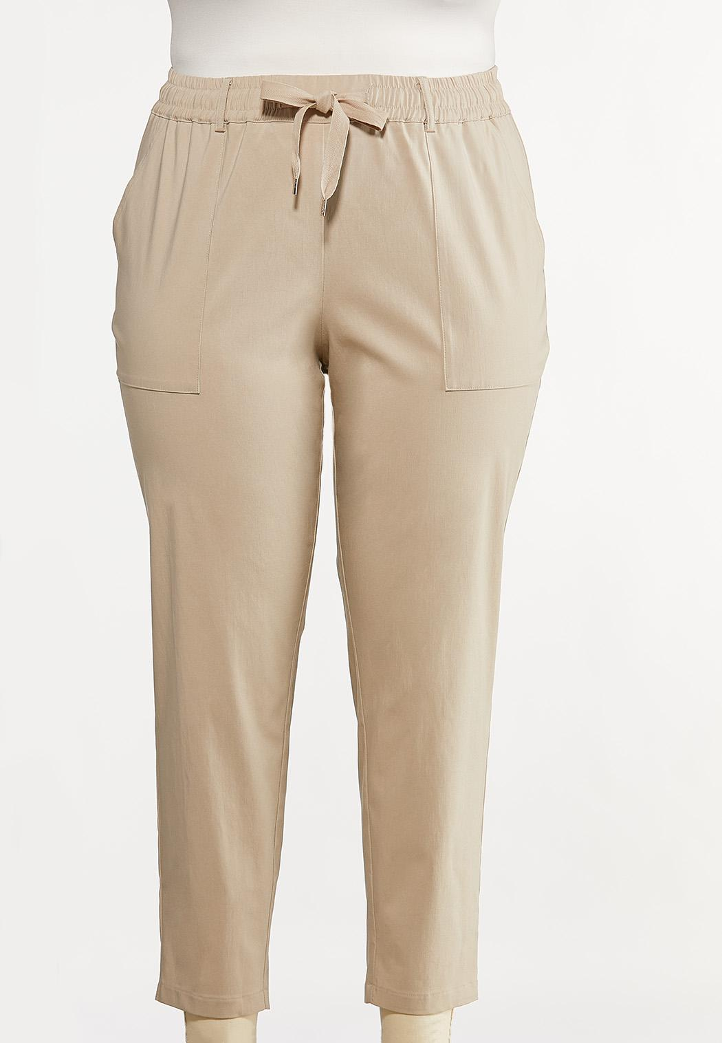 Plus Size Tie Waist Bengaline Pants