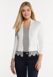 Lace Trim Shrug