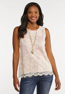 Plus Size Lace Tank Top
