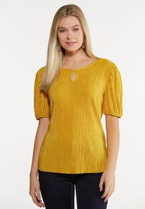 Textured Puff Sleeve Top