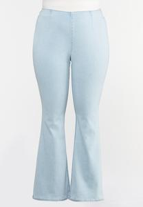 Plus Size Pull-On Flair Jeans