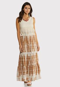 Plus Size Crochet Top Maxi Dress