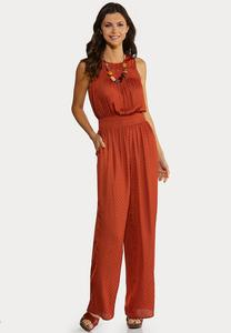 Plus Size Silky Dotted Jumpsuit