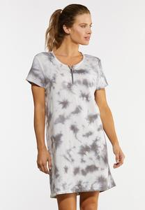 Plus Size Tie Dye French Terry Dress