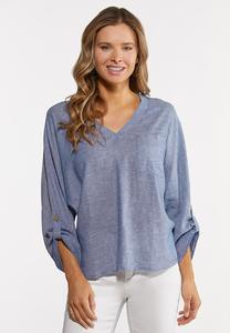 Plus Size High Low Dolman Top