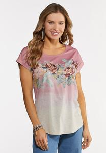Ombre Floral Tee