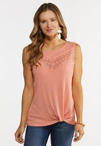 Plus Size Knotted Tank