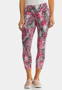 Pink Snakeprint Leggings