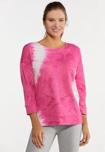 Plus Size Pink Tie Dye Sweatshirt