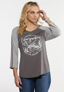 Plus Size Haven`t Been Everywhere Tee