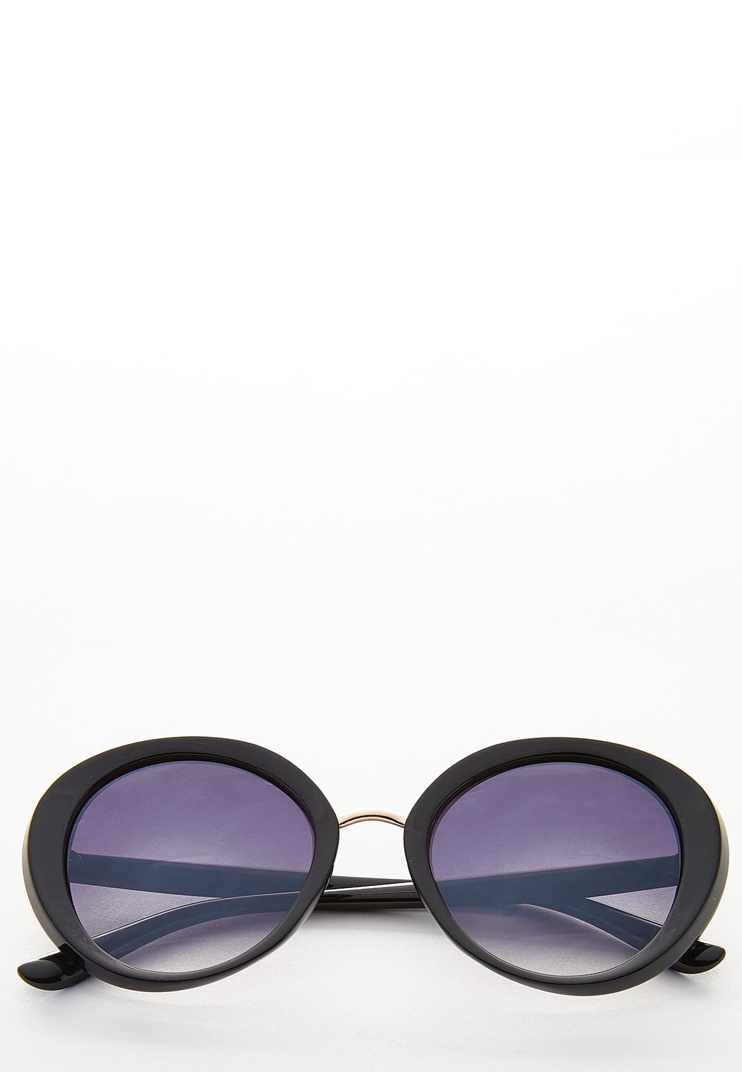 Classic Black Round Sunglasses
