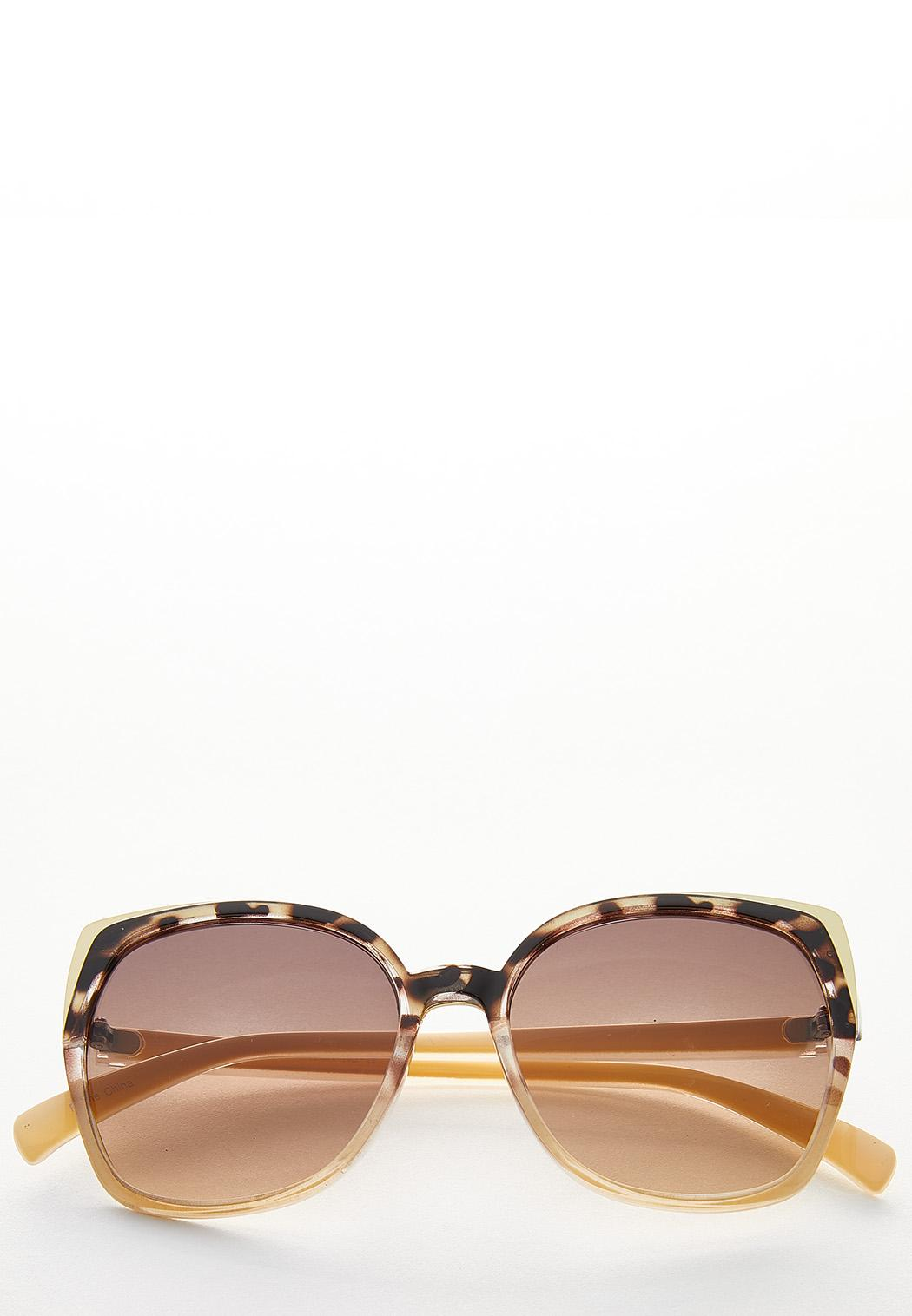 Tortoise Brow Square Sunglasses