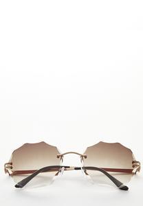 Beveled Round Sunglasses