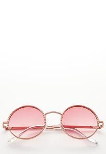 Beaded Frame Round Sunglasses