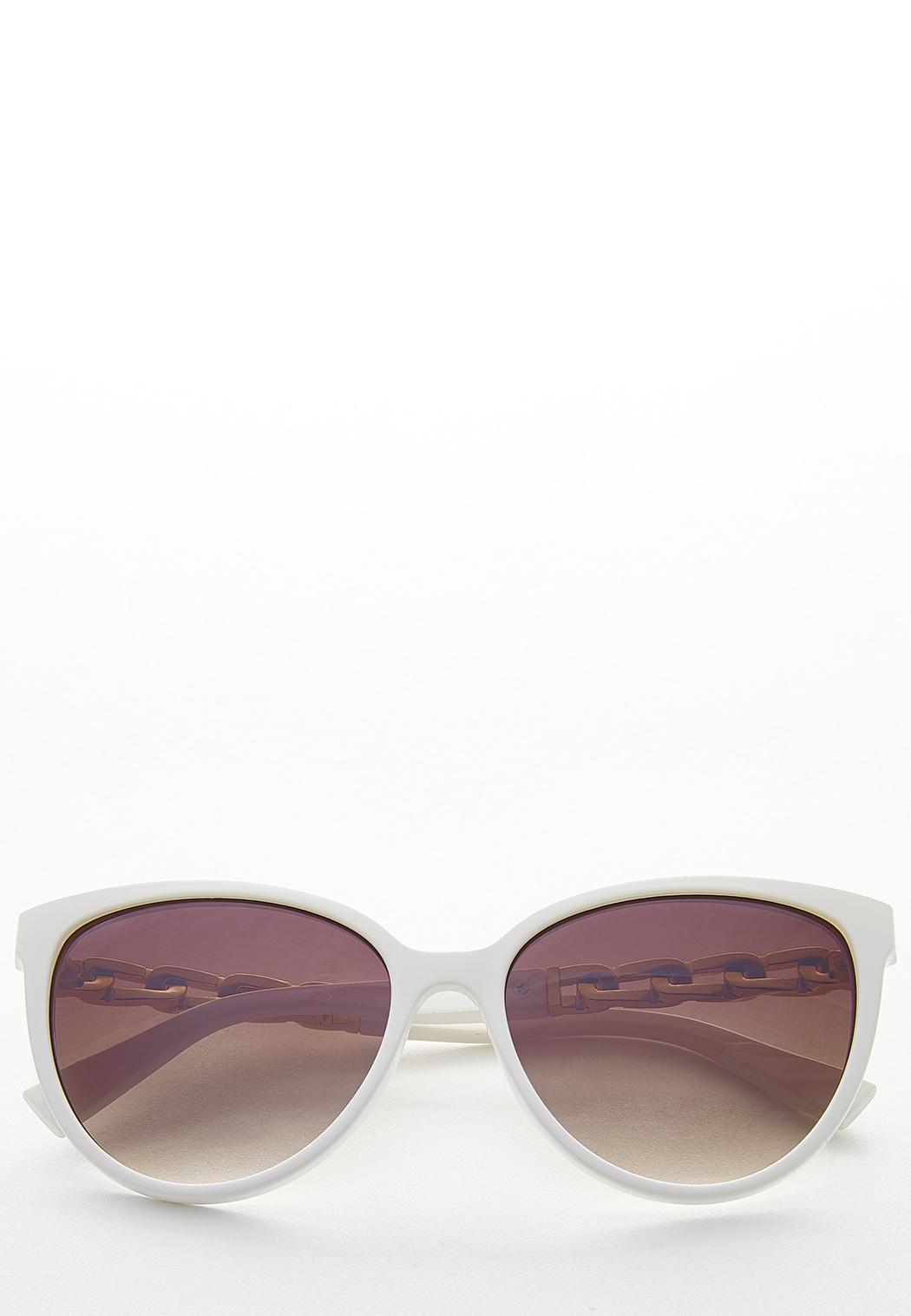 Chain Arm White Sunglasses