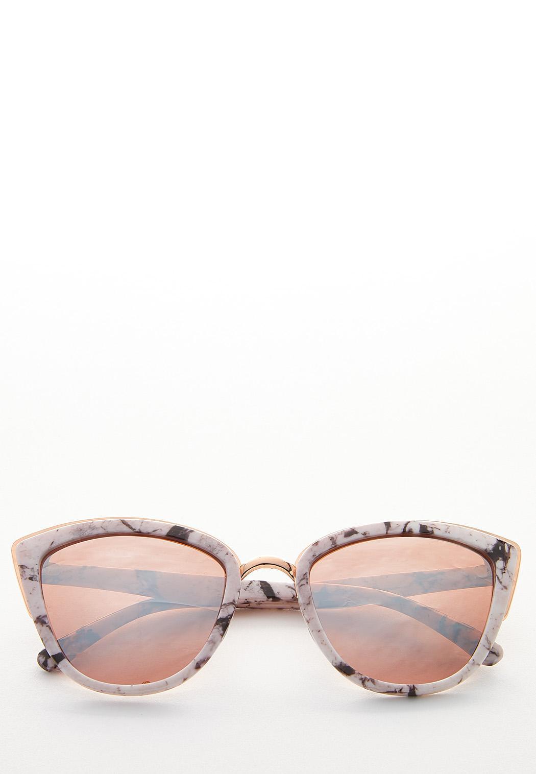 Marbled Mirror Lens Sunglasses