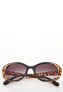 Leopard Oval Sunglasses