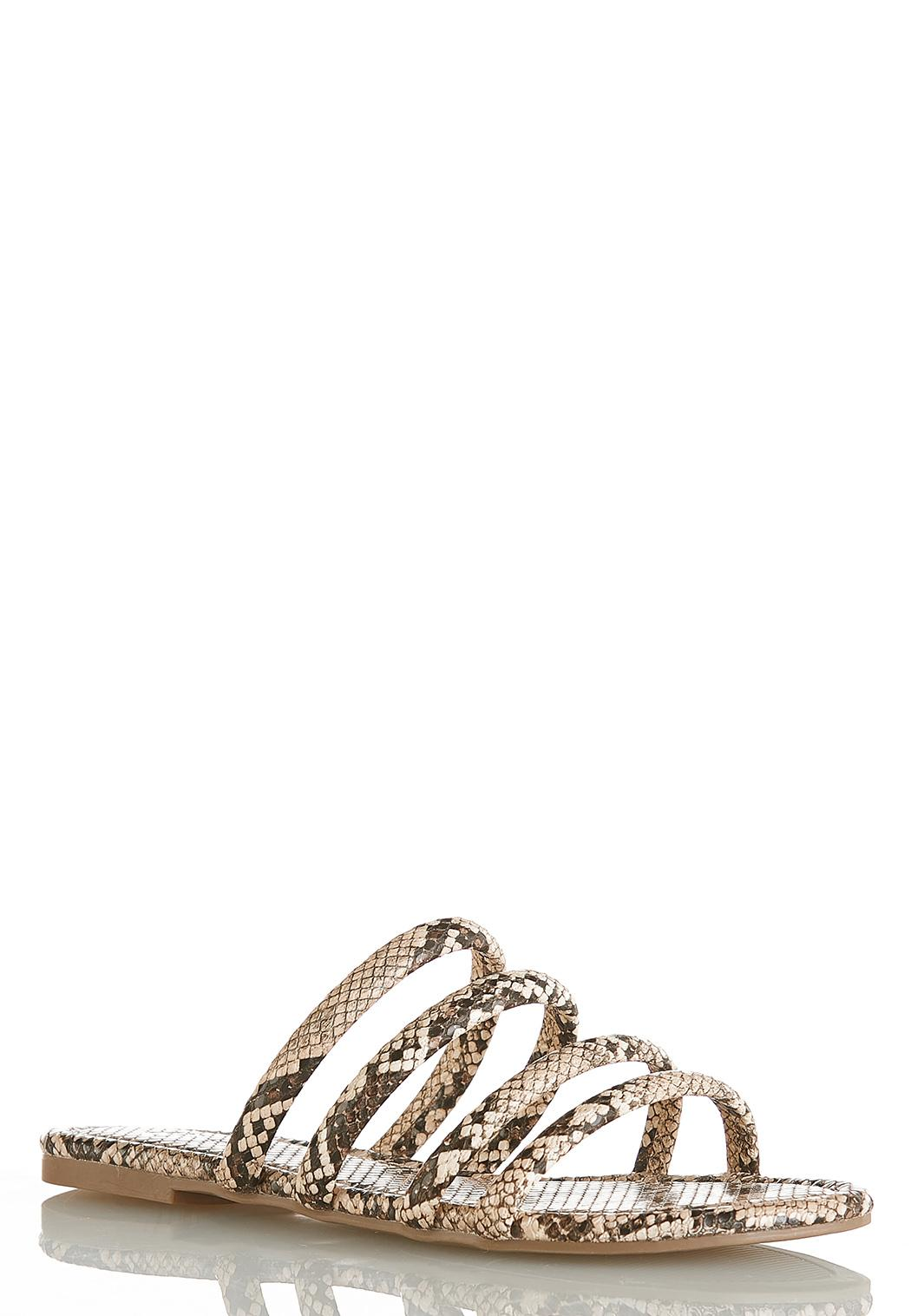 Tube Strap Snake Slide Sandals