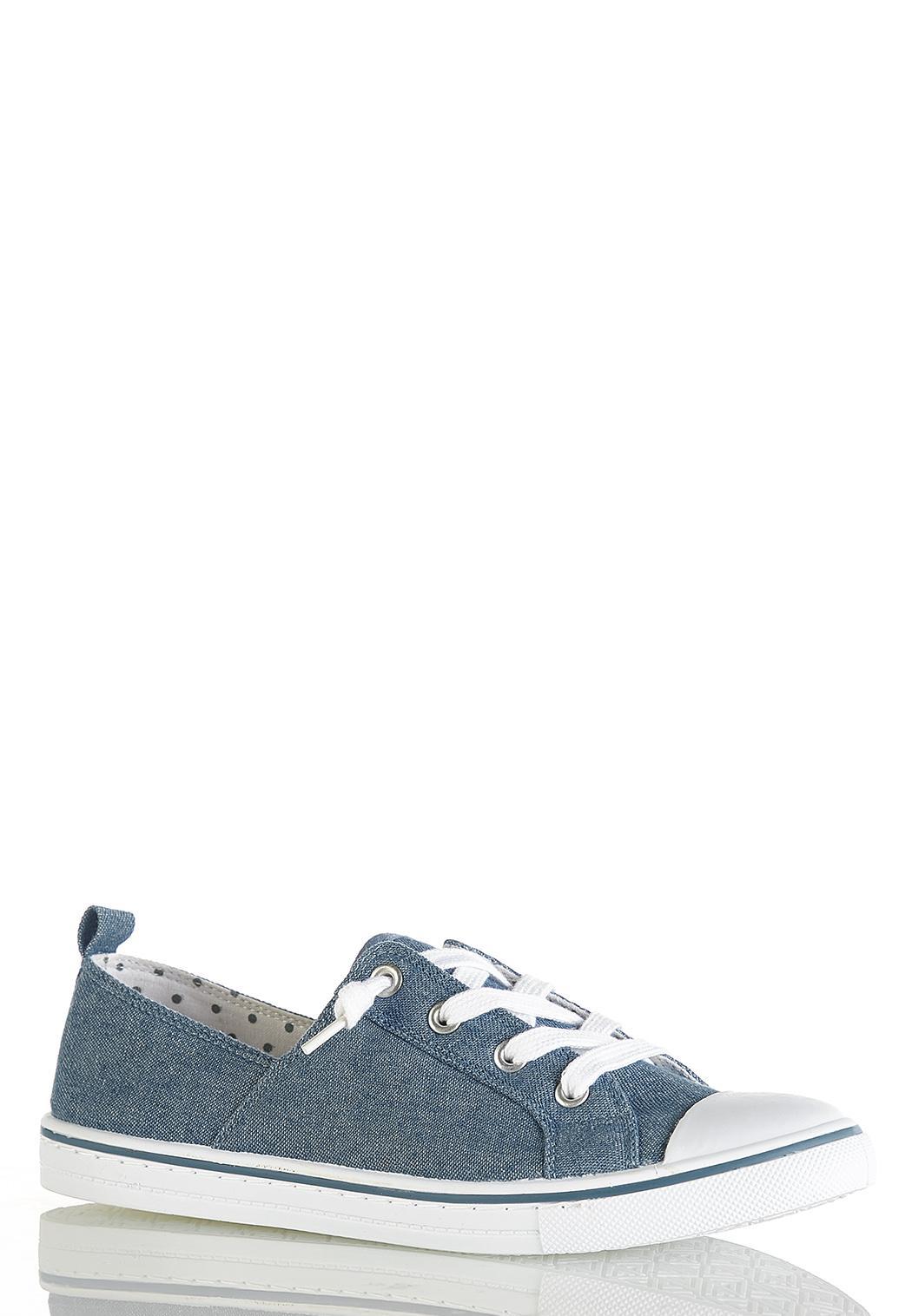 Denim Toe Cap Sneakers