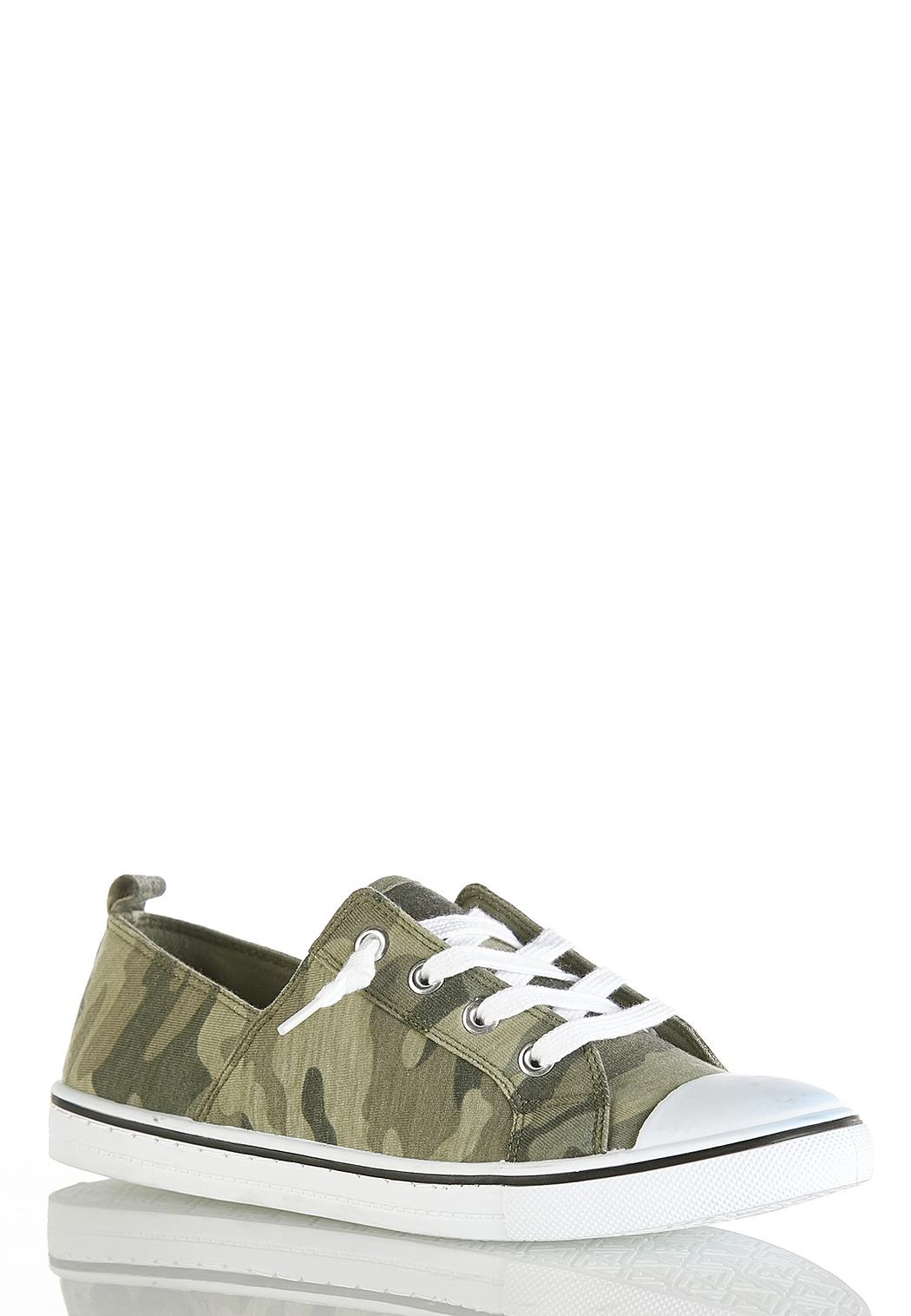 Camo Toe Cap Sneakers